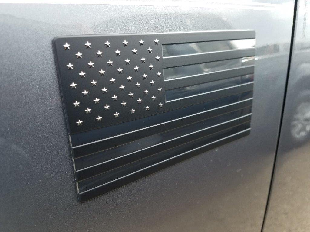 For Car Or Anywhere 2 Pack Aluminum American Flag Stickers // Decals Weatherproof And Durable Metal Material USA Flag And Emblem Badge Stickers USA!