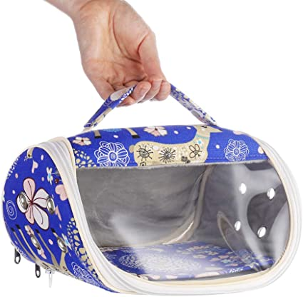 KINTOR Hamster Carrier Bag Small Animal Portable Breathable Outgoing Bag for Guinea Pig Hedgehog Squirrel Chinchilla mice Rats Sugar Glider Ferret Small Parrots