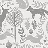 Carousel Designs Gray Woodland Animals Cradle Sheet