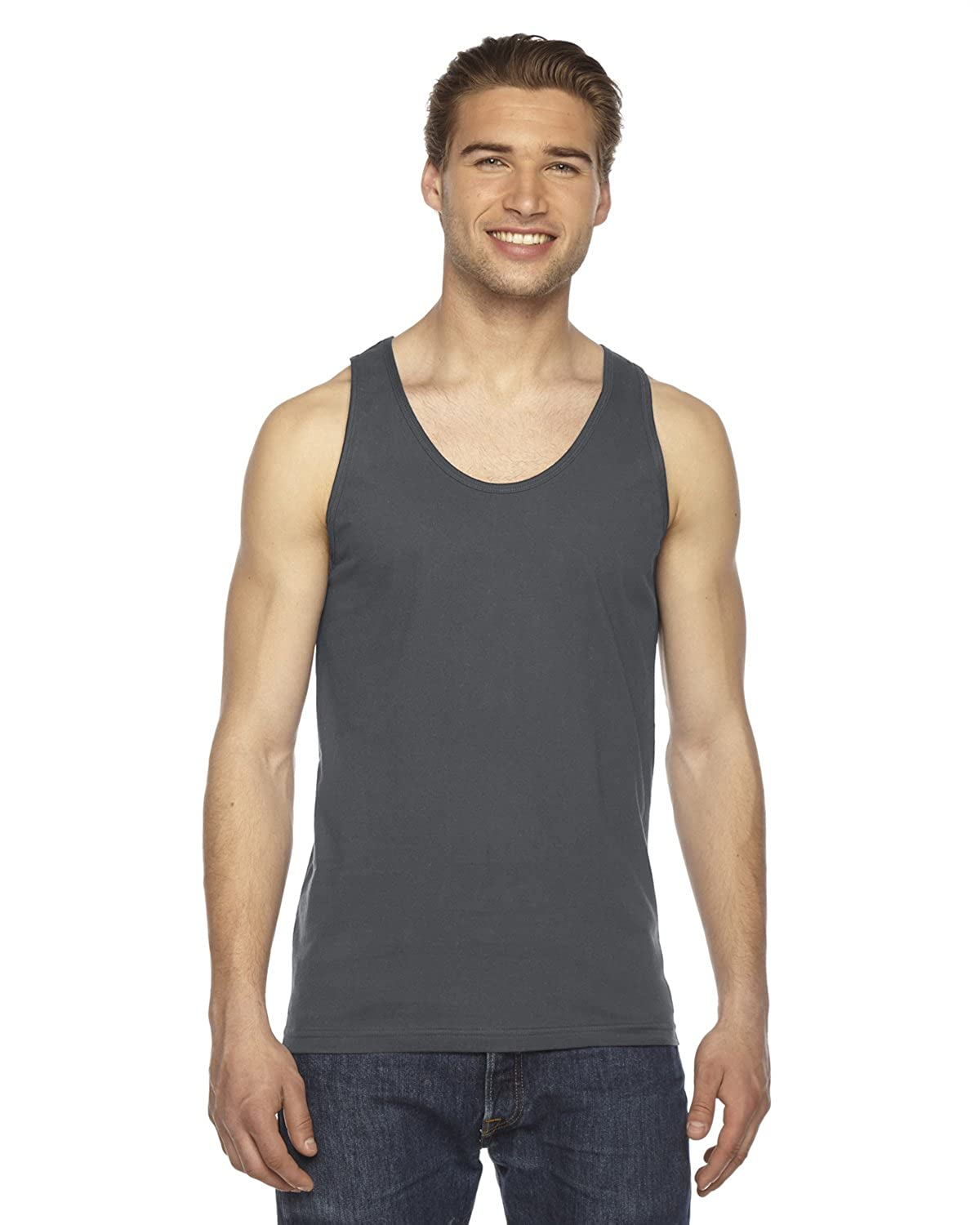 06c2705c8a American Apparel 2408 Men's Unisex Fine Jersey Tank at Amazon Men's Clothing  store: