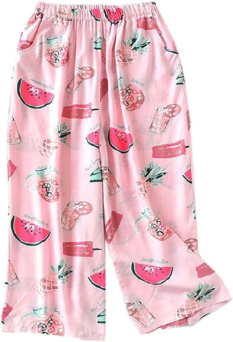 dahuo Damen Schlafanzughose mit Kordelzug