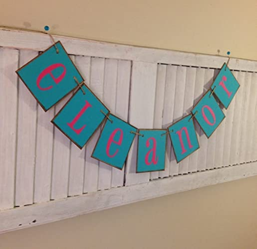 amazon com personalized name banner garland bunting sign nursery