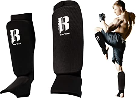 Revgear Freestyle Grappling Shin Guard MMA Muay Thai Kick Boxing Leg Support Pad