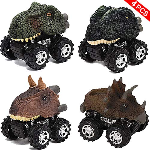 - QLkirin Mini Pull Back Animal Car Toy for Toddlers Boys Girls Pull Back Dinosaur 4 Pack Pull Back Dinosaur Vehicle Set Creative Gifts