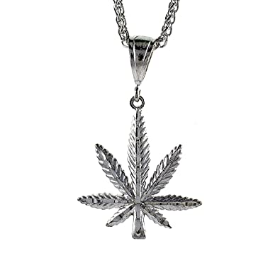 Amazon sterling silver pot leaf pendant 1 34 inch tall sterling silver pot leaf pendant 1 34 inch tall mozeypictures Image collections