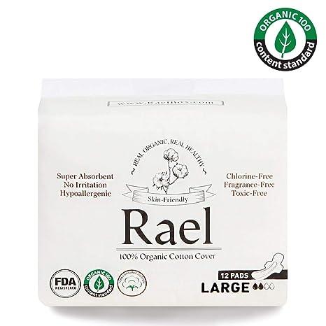 Tessili per la casa Rael Assorbenti mestruali regolari in 100% cotone biologico-assorbenti ultra sottili con ali