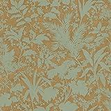 Chesapeake AL13754 Fauna Silhouette Leaves Wallpaper, Copper