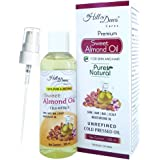 HillDews Sweet Almond Oil | 100ml | Pure | Natural | Cold Pressed For Skin and Hair