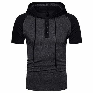 Herren Kapuzenshirt Kurzarm Hoodie T-Shirt Baumwolle Sommer Jahre Junge  Kurze Hülsen-T-Shirts Männer Classic Mens Hoody T Shirt Top  Amazon.de   Bekleidung ffa9b1a2c0