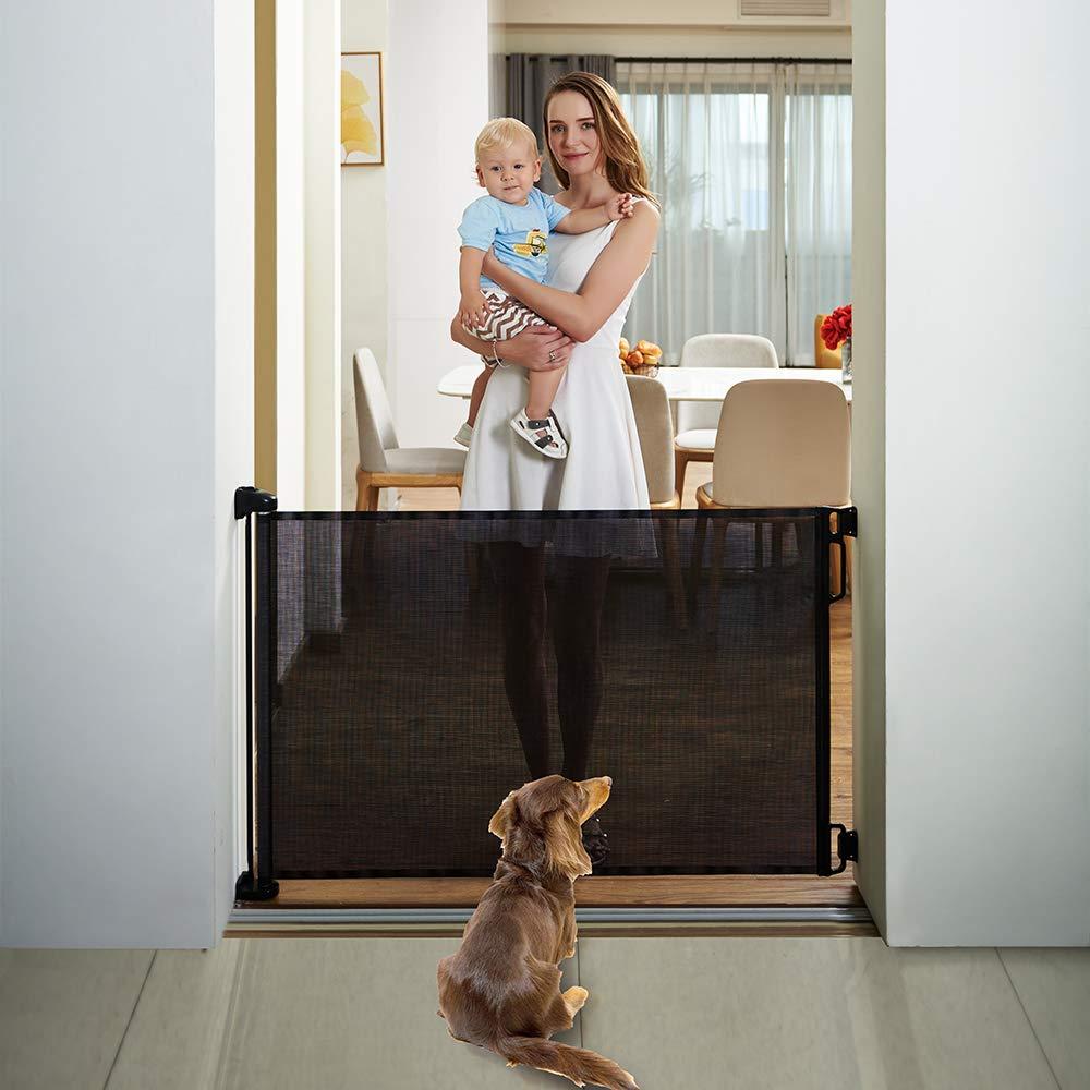 EasyBaby Products Indoor Outdoor Retractable Baby Gate