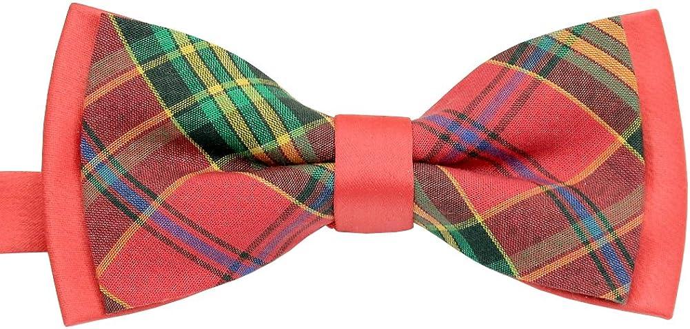 ST34 Brand New Multi-color Plaid Cotton Tuxedo Unique Bow tie for MEN BB-1271