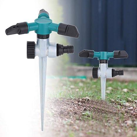 Lecxin Irrigatore per irrigazione 360 /° Rotante Irrigatore per Prato Irrigatore per Giardino Irrigazione Strumento per irrigazione Accessori per Tubo da Giardino Irrigatore per Giardino