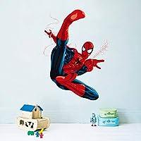 Kibi 3D-effect sticker Spiderman in de muur doorbraak gat Marvel's Spider-Man Ultimate muursticker kinderkamer Spiderman…