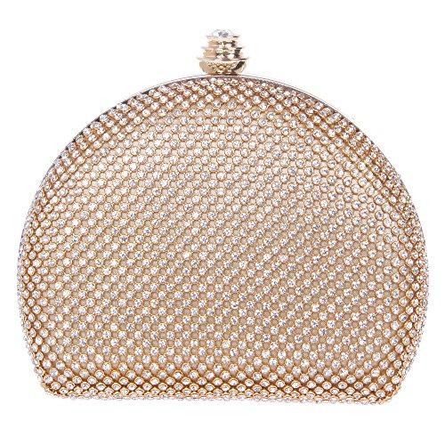Fawziya Cute Clutch Purses For Women Mini Crystal Clutch Evening Bag-Gold