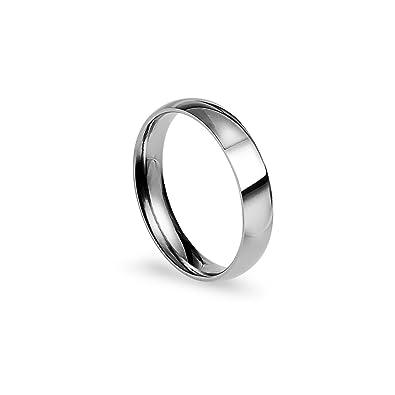 Amazon.com: Silverline Jewelry - Anillo de boda de acero ...