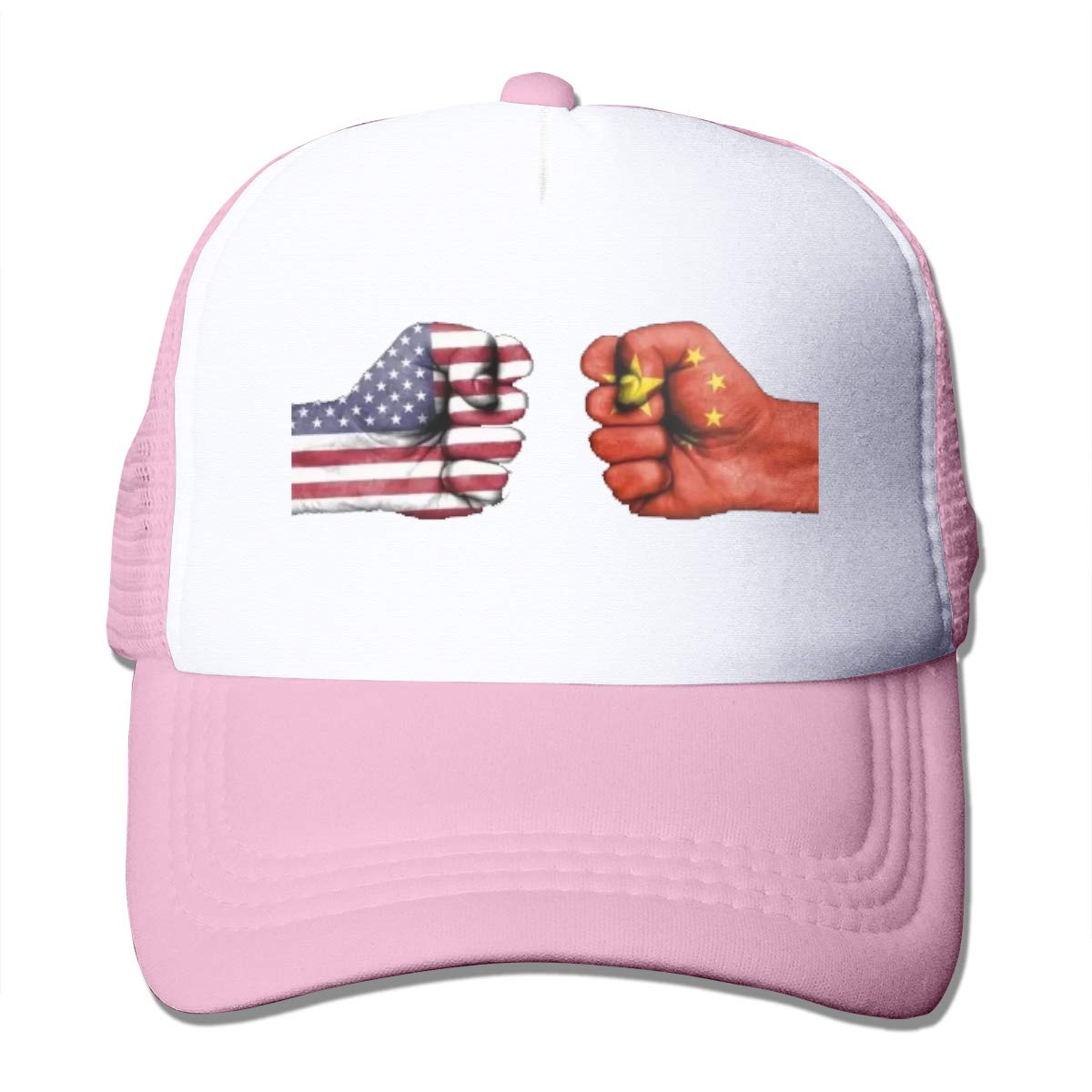 Zhiwei Station China and American Unisex 3D Printed Trucker Hat Pink