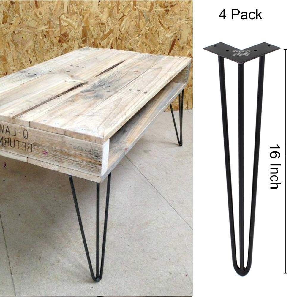 Amazing Winsoon Industrial Iron Hairpin Table Legs 16 Inch Set Of 4 Pack Metal Bench Legs For Furniture Feet Wooden Desk Legs Hair Pin Design 16 Inch 3 Rod Ibusinesslaw Wood Chair Design Ideas Ibusinesslaworg