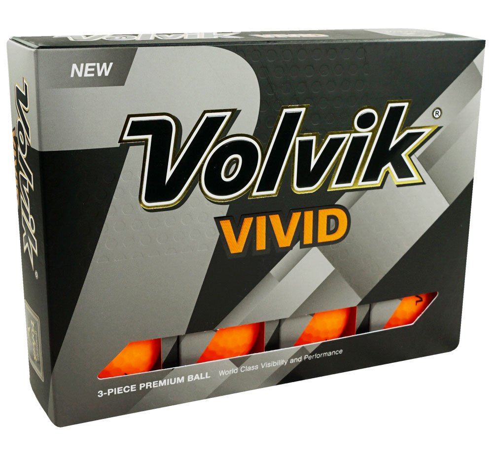Volvik Vivid Orange Dozen Golf Balls