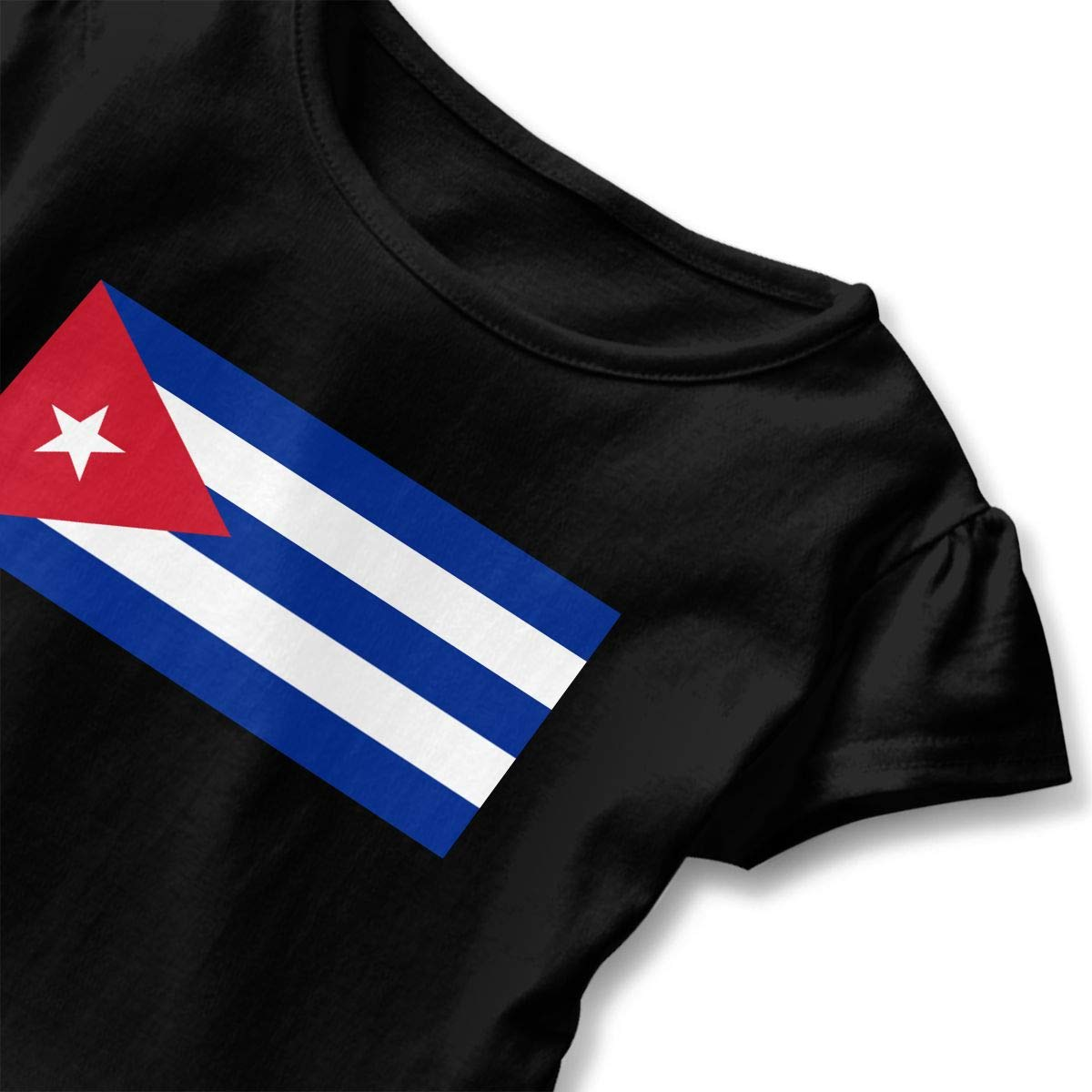 GNKTGBO2O Baby Girls Cuba Flag 100/% Cotton T Shirts Short Sleeve Ruffle Tee Basic Tops