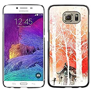 iKiki Tech / Estuche rígido - Nature Japanese Fantasy Forrest - Samsung Galaxy S6 SM-G920