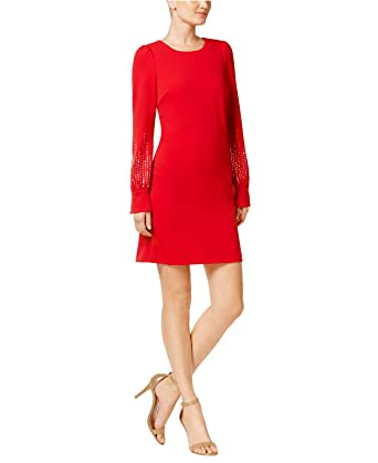 9eff7ab2 Calvin Klein Womens Embellished Bubble Sleeve Sheath Dress CD7C11EL at Amazon  Women's Clothing store: