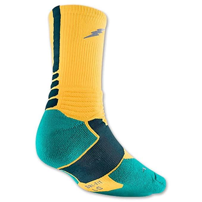 Nike KD Hyper Elite impacto amortiguado calcetines Mango/Teal sx4814