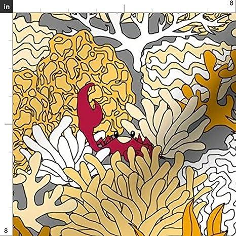 Tela de tiburón de coral con diseño de flor de cuchara – Arrecife ...