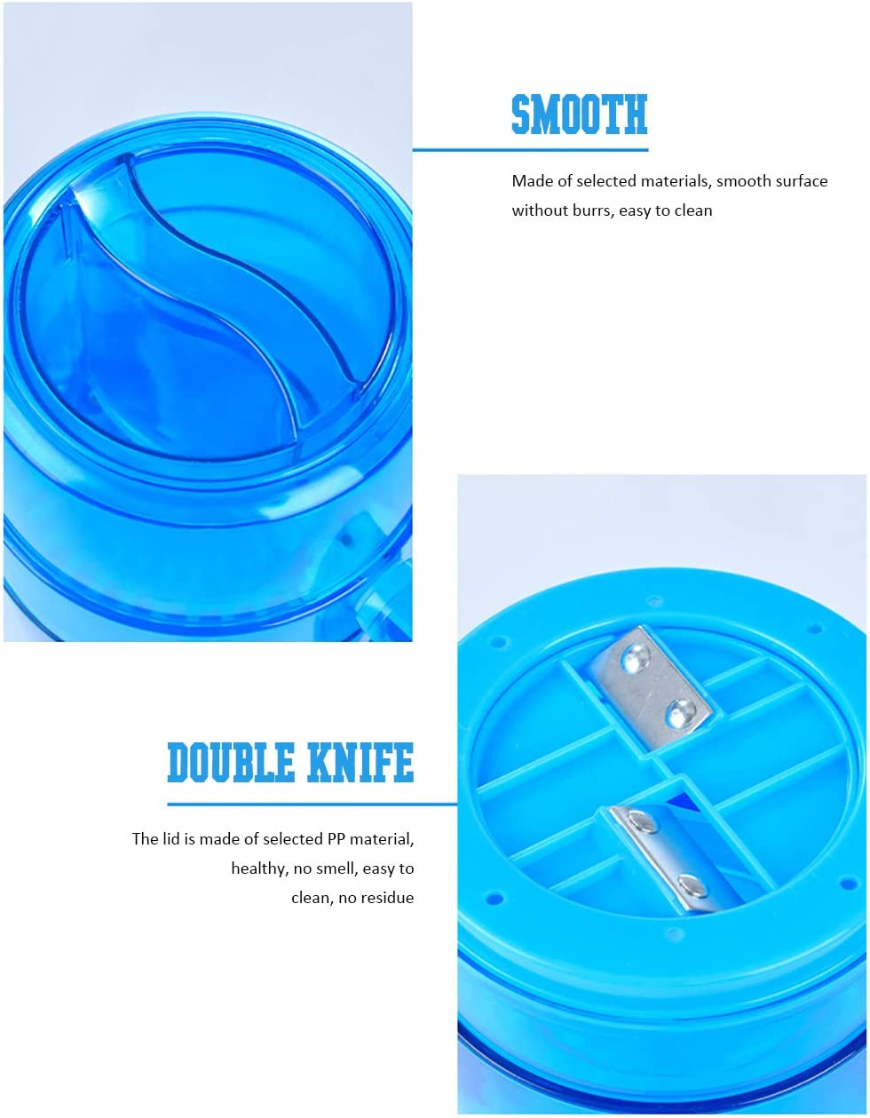 Yilin - Trituradora de hielo manual, portátil, para el hogar, mini ...