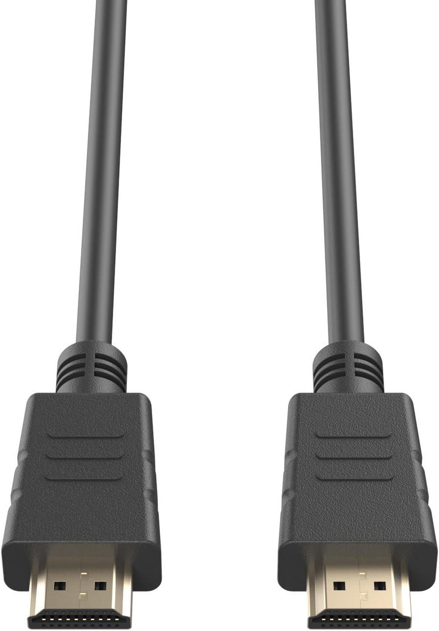 3D HDMI Noir Haute Vitesse de 1,8m Via Ethernet Audio 4K