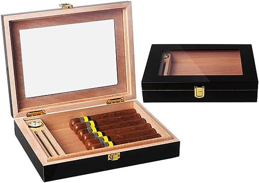 Caja de cigarros Sólida madera de cedro español, escritorio ...