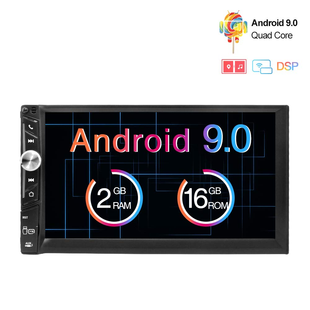 Freeauto Android 9.0 Universal Car Stereo 7 Inch HD Touch Screen Double 2 Din In Dash Head Unit GPS Navigation AM FM Radio