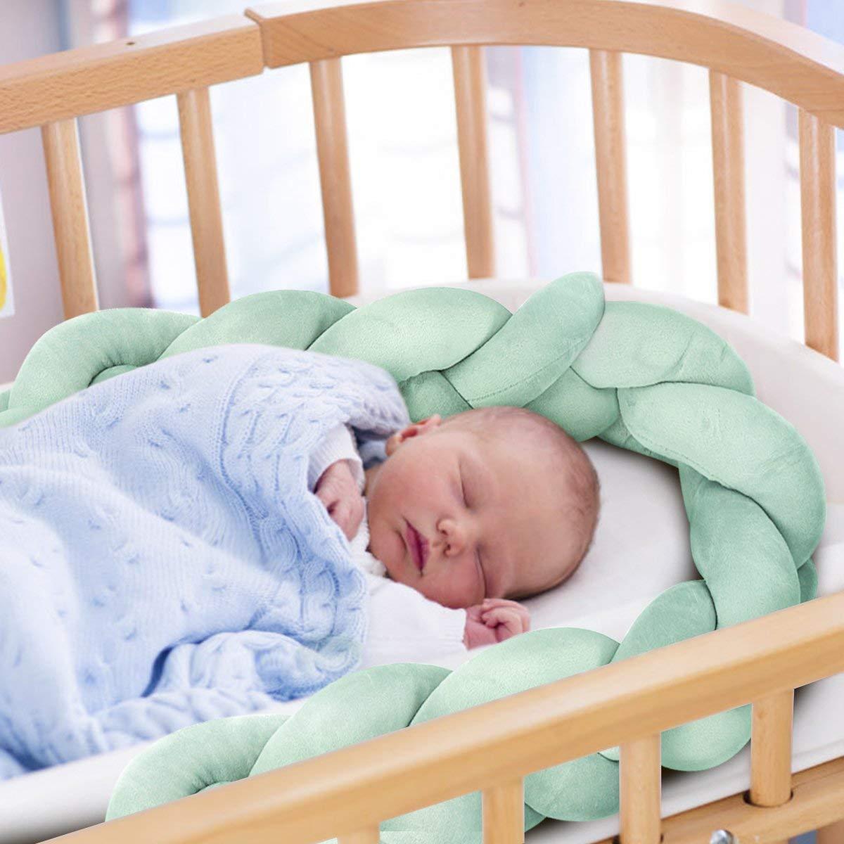 para cuna cuna para cuna decoraci/ón para cuna equipamiento de cama Protector de cuna protector de bordes cuna protector de cabeza parachoques cama infantil amarillo rosa Talla:2M