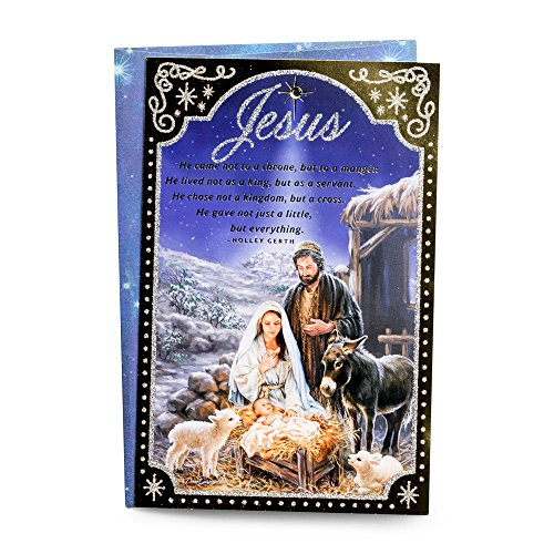 Nativity Christmas Scene Card (Christmas Boxed Cards - Nativity Scene - Jesus)