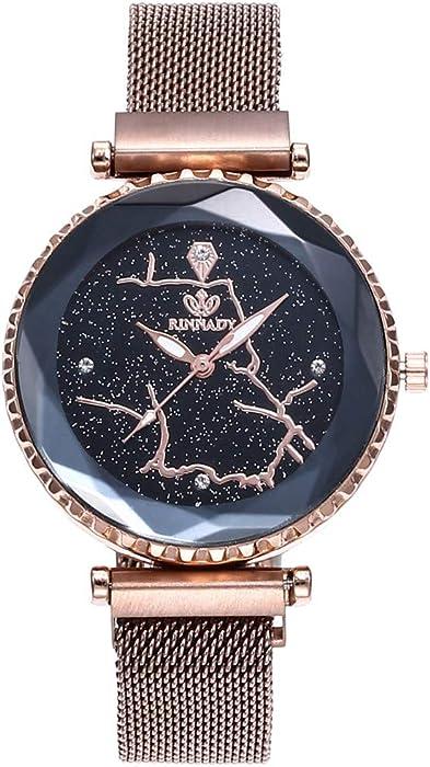Reloj Digital Mujer, BOBOLover Pulseras Mujer Reloj con Movimiento Cuarzo Pulsera de Cuarzo Analógico con Correa de Malla - Clásico Regalo para Mujer