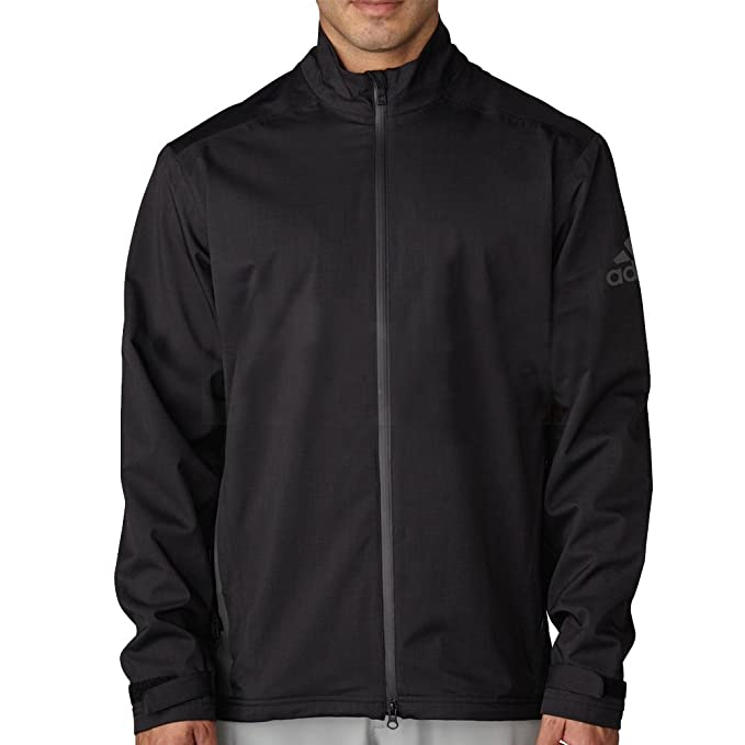 adidas Golf Men's Climaproof Heather rain Jacket Black/bk