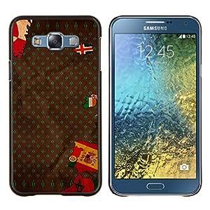 LECELL--Funda protectora / Cubierta / Piel For Samsung Galaxy E7 E700 -- Bandera Europa España Portugal Islandia Mapa --