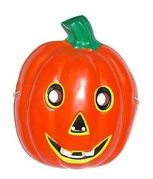Fasching Fete – Halloween máscara Disfraz Para Niños – Máscara de calabaza, color naranja