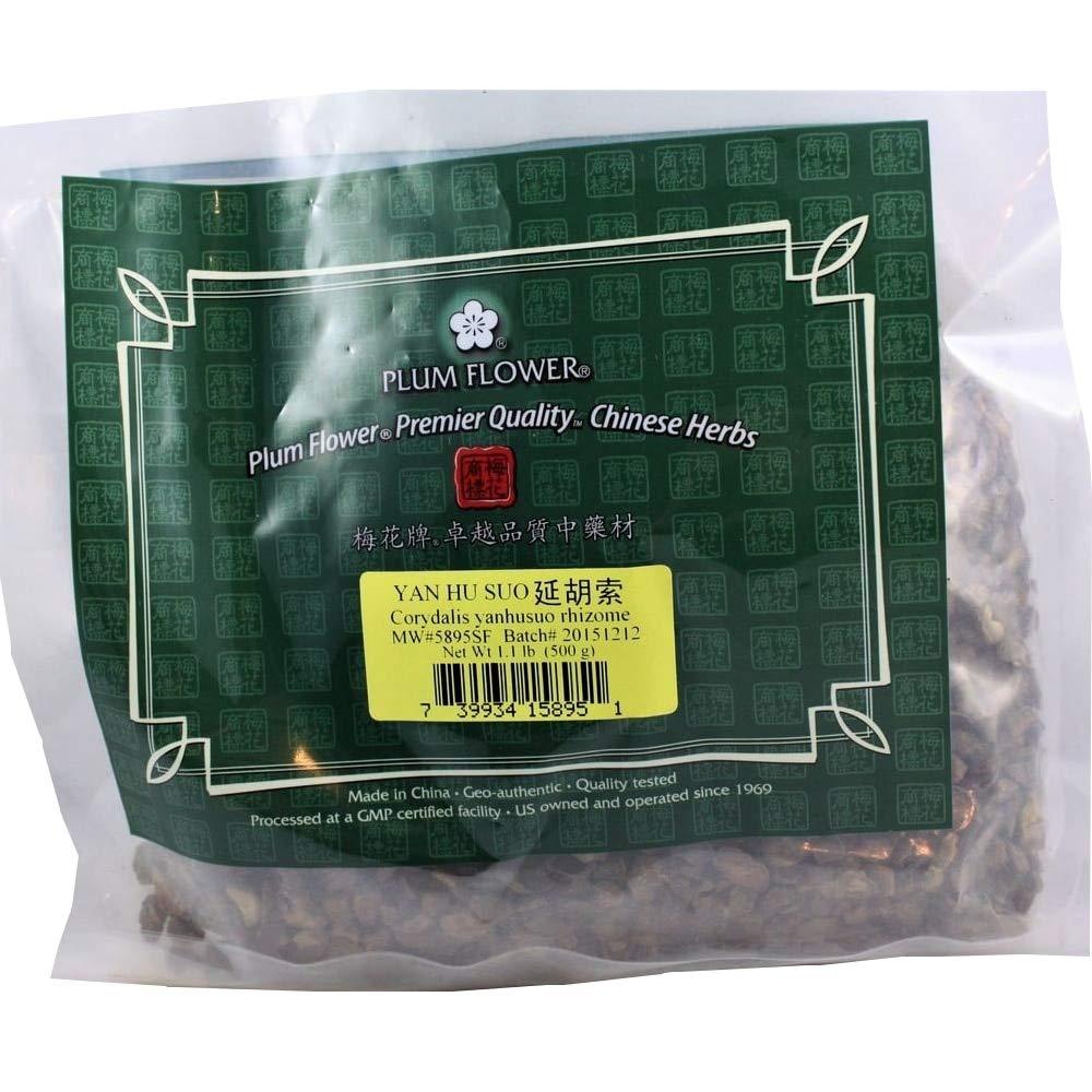Corydalis Rhizome - Root, Cut / Yan Hu Suo / Corydalis Yanhusuo - Bulk Herb 1lb or 500g by Plum Flower