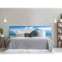 Cabecero Cama PVC Impresión Digital Agua Cristalina Multicolor 100 x 60 cm | Disponible…