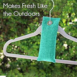 Moso Bamboo Absorber, Charcoal Natural Air Purifying Bags-Freshens, Deodarizes, Removes and Eliminates Odors and Mold - For Shoes, Home, Cars, Closets and Pet Areas also Absorbs Moisture