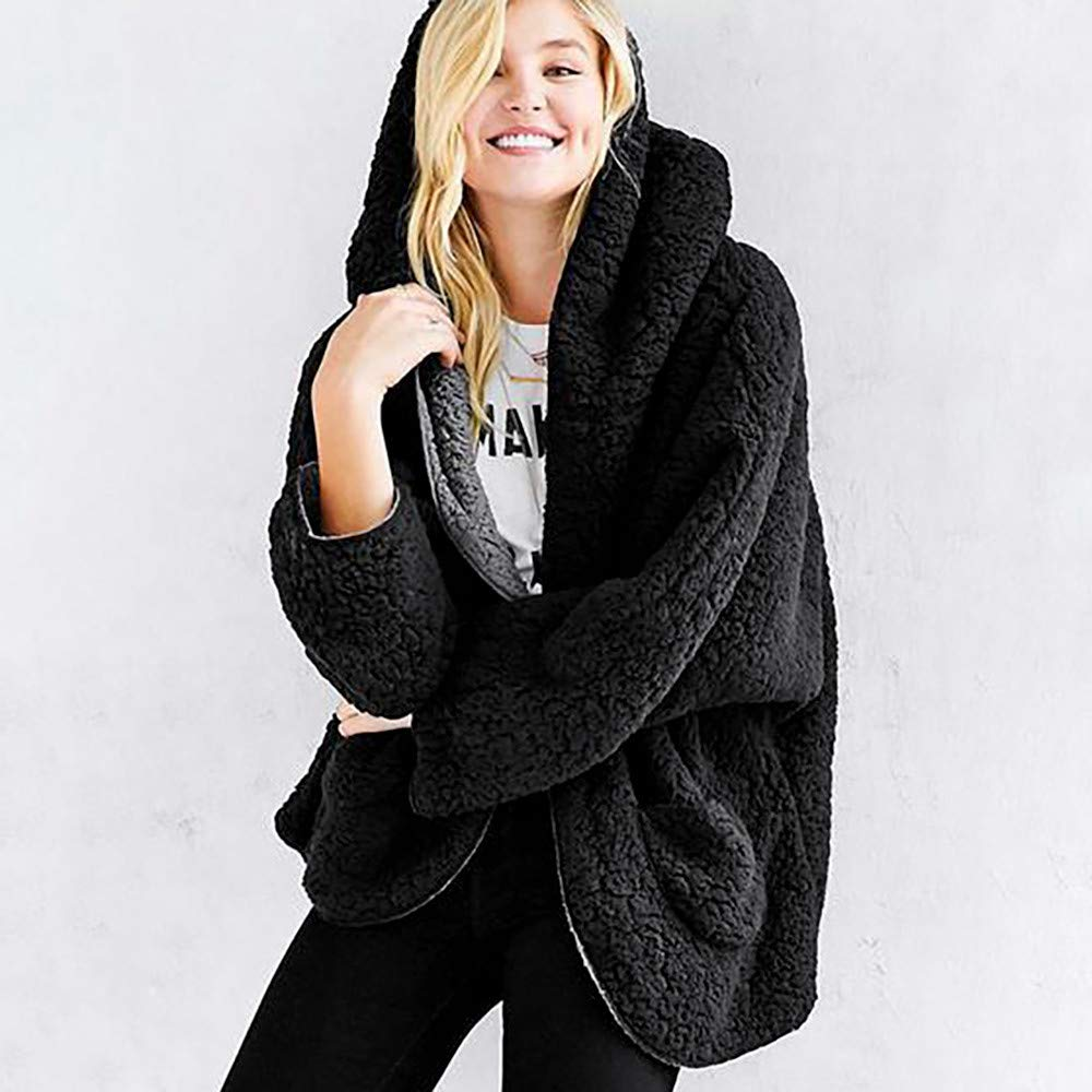 Long Winter Coats for Women with Fur Hood,Women Ladies Winter Hooded Zipper Pocket Lapel Loose Hairy Cotton Clothing Coat