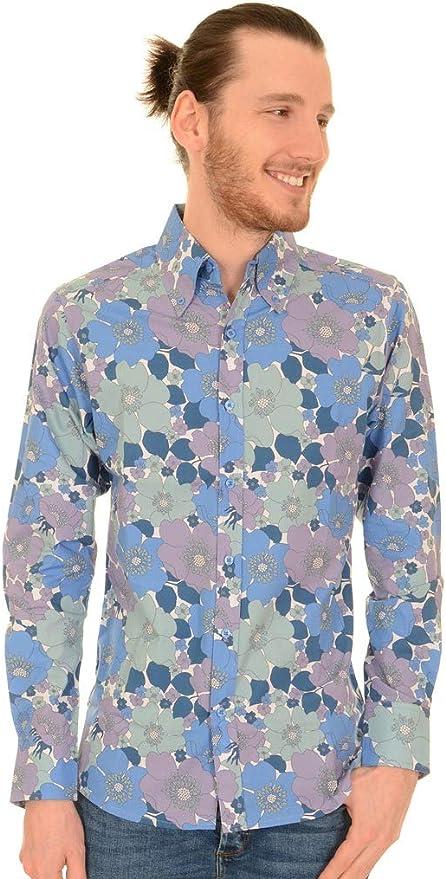 vintage 1970s equestrian renaissance novelty button down long sleeve shirt