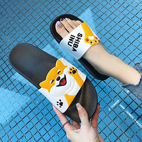 slittamento bagno fankou estate bagno anti cool soggiorno bianco matura Pantofole con uomini cartoon donne e grazioso uomini home D 41 interno pantofole 40 zFwOrxqCz