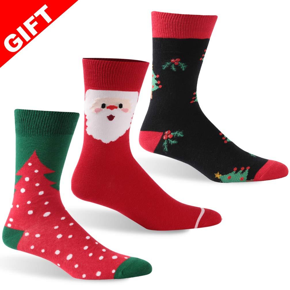 saounisi SOCKSHOSIERY レディース B07HHSTNXY Christmas Tree+santa Claus+christmas Tree Christmas Tree+santa Claus+christmas Tree