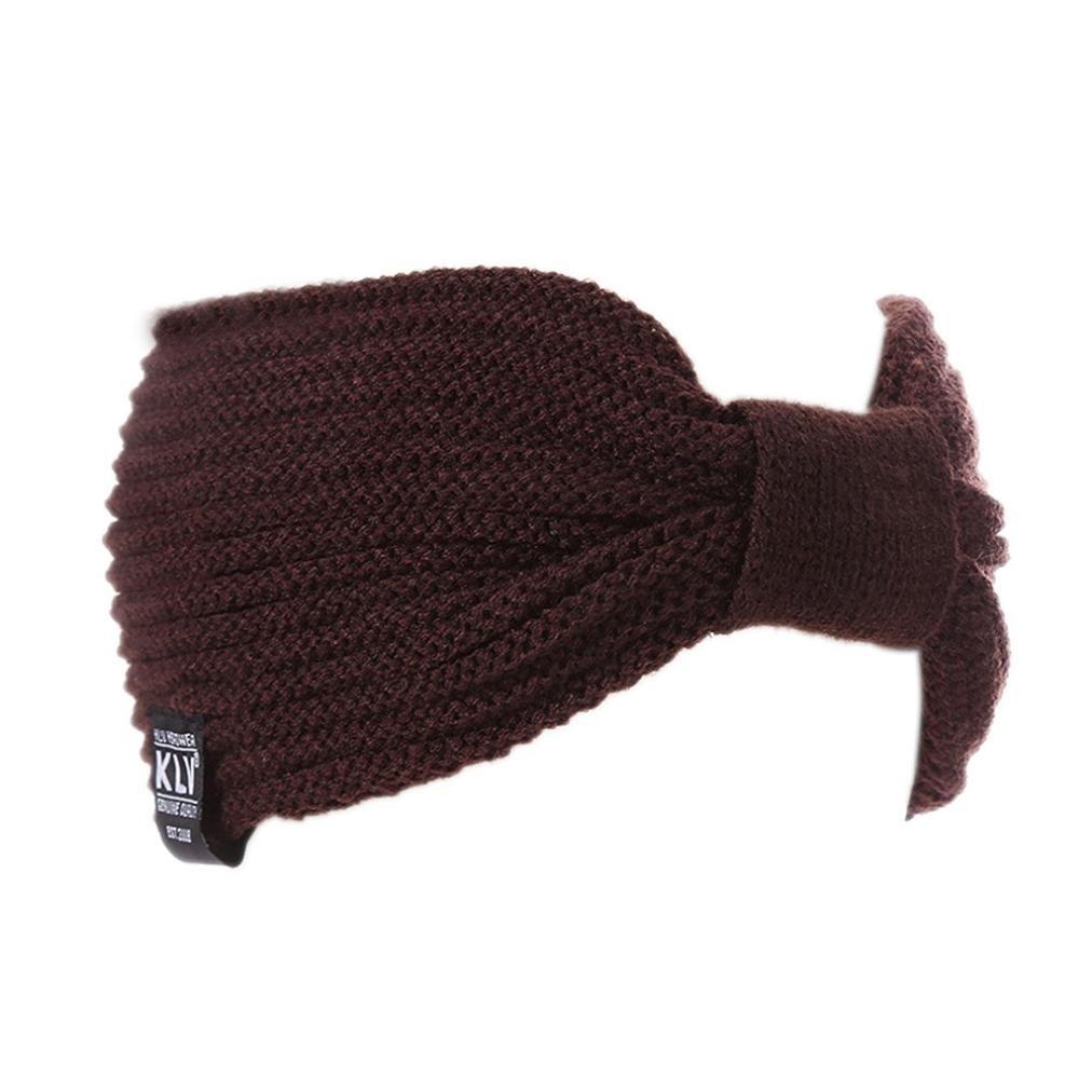 DDLBiz® Winter Warm Knit Beanie Mütze Chic Skimütze Stirnband (Kaffee)