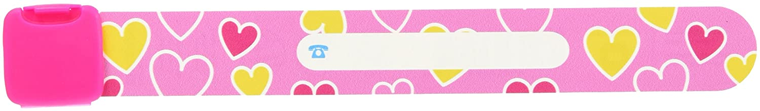 Infoband Wrist Band for Kids - Hearts/Pink IB070 U8-X9CB-OMCF
