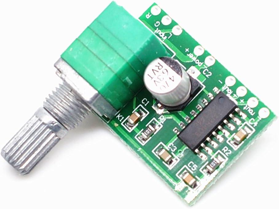 3PCS 2.5-5V 2X3W Mini Audio Class D amplifier board PAM8403 board
