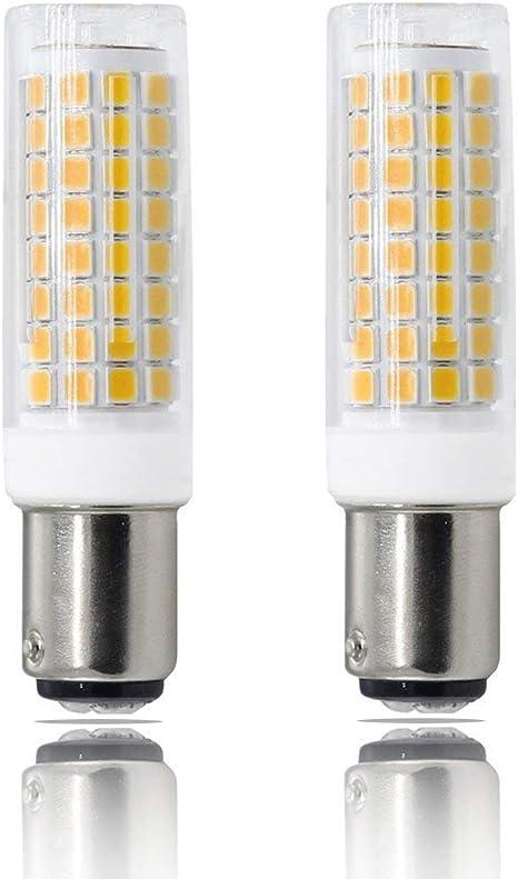 Pack of 2 Warm White 8W Ba15d led Bulb dimmable, 80W Equivalent Daylight ,ba15d led , Ba15d Double Contact Bayonet Base AC110V 120V