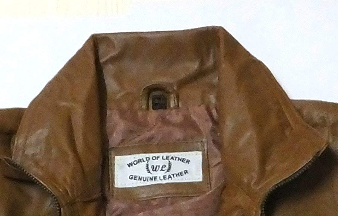 World of Leather Womens Biker Moto Leather Jacket Cognac Short