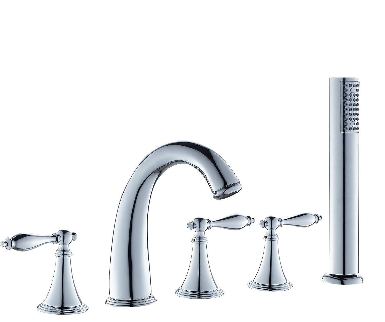Retro Messing Badewannenarmatur Split fünf Sprinkler Dusche Wasserhahn